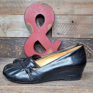 Miz Mooz Pookie Black Leather Slip On Shoes